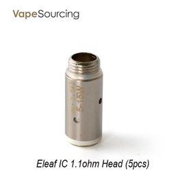 Wholesale Better Design - Five Pieces Eleaf IC 1.1ohm head new design,better wicking system with 1.1ohm resistance DHL Free Ship