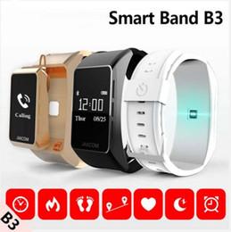 Wholesale Band Watch Mobile Phone Camera - Hot B3 Smart Band New Product Of Wristba As Heart Rate Monitor Watch Mobile phone smart watchFor Xiaomi Mi Band 2 Bracelet Talkband