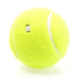 Wholesale Tennis Balls Elastic - Wholesale- Profession Training Tennis Ball Special Offer Durable Tennis Ball with Elastic Rubber Fluorescent Yellow