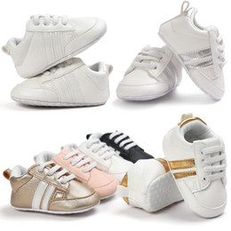 Wholesale Bebe Lace - Romirus PU leather Baby sports shoes girls boys First Walkers Soft Bottom Fashion Newborn Shoes Bebe