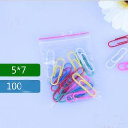 2019 mini ziplock taschen Unbeschichtete 5 * 7 cm Packung Mini PE Transparente Plastiktüte Geschenkverpackung Taschen Für Ringe Ohrringe Schmuck Mini Druckverschlussbeutel 500 stücke = 1 beutel rabatt mini ziplock taschen