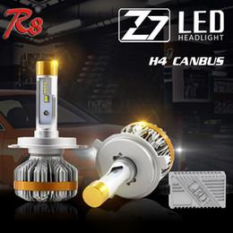 1 Conjunto Z7 H4 9003 HB2 60 W 7000LM LEVOU Farol Kit Super Slim LUME LUXEON ZES Chips Embutido Canbus Decoder Substituir HID Xenon Lâmpada de halogéneo de