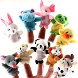 Wholesale Hand Puppet Plush Doll Children - Cute interesting animal finger puppets hand puppets plush toys kids conciliator dolls Parent-child interaction small stuffed animals dolls