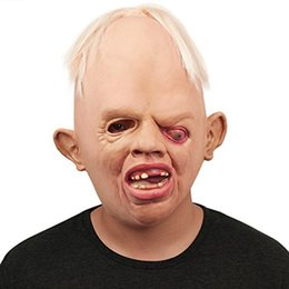 свадебное платье Скидка Wholesale- High Quality Horrible Monster Adult Latex Masks Full Face Breathable Halloween Masquerade Mask Fancy Dress Party Cosplay Costume