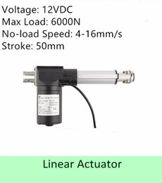 Wholesale Dc Electric Linear Actuator - Heavy Load Capacity 600KGS  6000N 12volt DC 2inch  50mm stroke length speed 4mm s high quality electric linear actuator