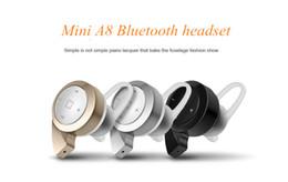 Fone de ouvido caracol on-line-Alta Qualidade A8 Bluetooth Headset Caracol Mini Stereo V4.0 Fone De Ouvido Sem Fio Binaural Handsfree Handsbree Universal