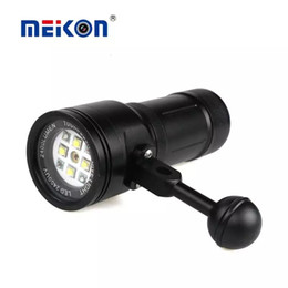 Wholesale Diving Laser - Wholesale-2016 MK-15 Meikon 2400LM Diving Torch Lighting Light with Laser for Underwater Waterpoof Video Camera Photography Scuba