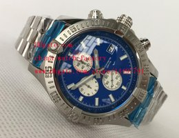 Wholesale Diver Brand Watch Automatic - Luxury High Quality Brand Watch 44mm 48mm Super Avenger II SuperAvenger Blue Dial Chronograph Stainless Steel Mens Watch Watches