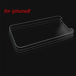Wholesale Box Die - Tempered film die For I8 Tempered Glass Screen Protectors Explosion Shatter Screen Protector Film In box DHL Free Shipping
