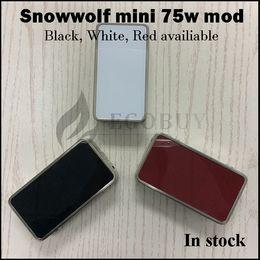Original sigelei 75w mod on-line-100% original snowwolf mini 75 w temp-controle mod lobo da neve 75 18650 bateria mods vs sigelei 150 w além de 80 w vt75 rx200 al85 fuchai 213