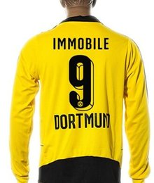 Wholesale Cheap Long Sleeve Soccer Jerseys - wholesale Customize Number 15-16 Thai Quality Long Sleeve Soccer Jersey,Discount Cheap 9 IMMOBILE 17 AUBAMEYANG football Wear,Soccer Wear