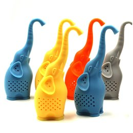 Wholesale Wholesale For Kitchenware - Cute Elephant Tea Infuser Pure Soft Silicone Rubber Loose Tea Leaf Strainer Herbal Spice Filter Diffuser For Kitchenware