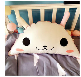 Wholesale Wholesale Cool Stuff - Pillow Kids Ins Baby Catoon Cute Cushion Cotton Baby Room Decor Child Stuffed Soft Newborn Bed Doll Children Best Gifts Free Shipping