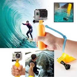 Wholesale Diving Mask New - 2016 New Floaty Floating Hand Grip Handle Mount Accessory Float+Strap For GoPro Hero 3+3 2 1 Go pro Accessories