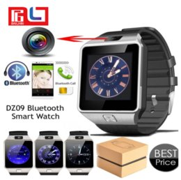 Wholesale Retail Android Phones - Bluetooth Smart Watch Phone & Camera Support SIM Card For Android iOS Phone DZ09 With the Retail Box