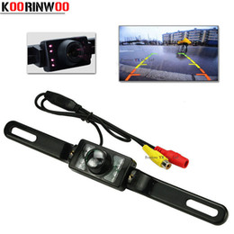 Wholesale Reverse Leds - Genuine Koorinwoo Parking System License Plate Car Reversing Cam Back Up IR LEDS infrared Night Vision Car Rear View Camera 2017