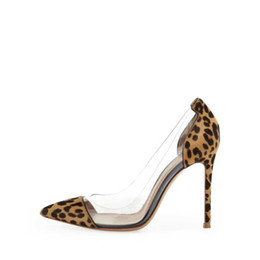 Wholesale Wedding Shoe Prices - 2017 New Arrivals Factory Price Patent Leather High Heels Women Pumps Sexy Transparent PVC Patchwork Women Party Dress Shoes Heels