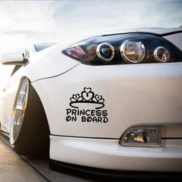 gráfico princesa Rebajas Venta caliente personalidad de la personalidad del coche para la princesa a bordo del parachoques del coche pegatinas de vinilo del arte decorativo superficie gráficos JDM
