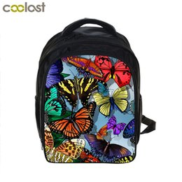 "Wholesale Kids Backpacks Skulls - Butterfly Skull Children Bags for Kindergarten Fire Balloon School Bags Girls 12"" Puzzle Print Kids Bag cartable enfant garcon"