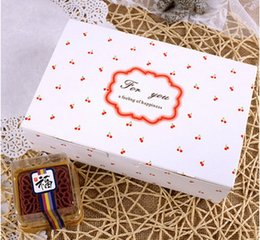 2017 Nuova vendita calda6 grano ciliegio decorazione torta scatola ciambelle dessert pacchetto di biscotti scatole da forno regalo imballaggio da