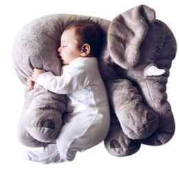 Wholesale Wholesale Baby Elephant Plush - Wholesale- 40CM Elephant Plush Toys Placate Doll Stuffed Plush Pillow Home Decor for Baby Car Bed Crib