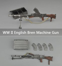 Wholesale Army Toys - Upgrade WW II English Army Bren Light Machine Gun toy With Ammo Box And 4 Clips 1:6 Gun Military Model Toy Plastic