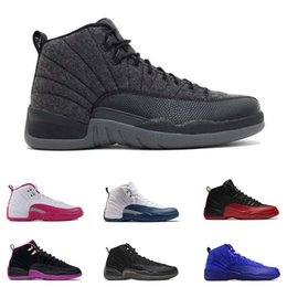 Wholesale Perfect Game - Super Perfect Quality Retro 12 Basketball Shoes Wings Flu Game 12 French Blue 12 The Master OVO white Men Sport Sneakers Size US8-13