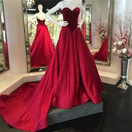 Wholesale Tight Satin Evening Dress - Velvet Sweetheart Bodice Corset Long Satin Ball Gowns Prom Dresses 2017 Elegant Reals Evening Gowns long tight prom Gowns