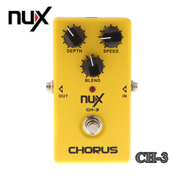 Wholesale Electric Guitar Instrument - Top Quality NUX CH-3 Violao Guitar Guitarra Electric Effect Pedal Chorus Low Noise BBD True Bypass Yellow Musical Instrument