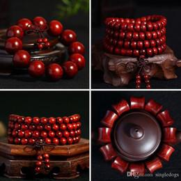 Wholesale African Wood Ornaments - 108 Beaded Strands Wood Buddha Buddhist Prayer Beads Africa Bracelet Mala Bangle Wrist Ornament Jewelery Gift For Father Free Shipping