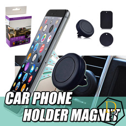 Wholesale Air S4 - Magnetic Dashboard Car Air Vent Cell Phone Mount Holder for Iphone 5s 6s 6splus Samsung S3 S4 S5 S6 s7 for All phones
