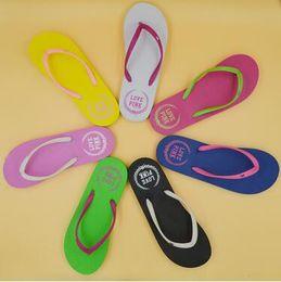 Wholesale Summer Sandal Wholesale - 7 Colors Girls Vs Pink Flip Flops Love Pink Sandals Pink Letter Beach Slippers Shoes Summer Soft Sandalias Beach Slippers CCA6078 20pair