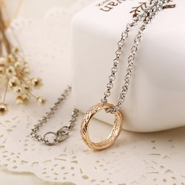 Wholesale Tungsten Carbide Pendants - 2017 Hot sale! Power Ring Pendant Double Sides Magical Words Tungsten Carbide One Ring of Power Pendant Movie Jewelry