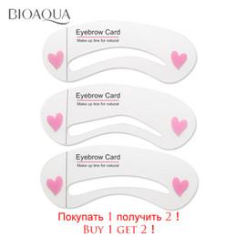 Wholesale Thrush Aids - BIOAQUA eyebrow set painted eyebrows multi-purpose thrush word aid repair popular template threading beauty eyebrow makeup tools
