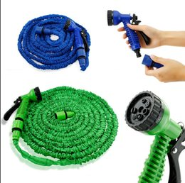 Wholesale Hose Spray Blue - Expandable Hose 50FT Garden Water Hose Expandable Flexible Hose Green Blue Water Garden Pipe with spray KKA1871