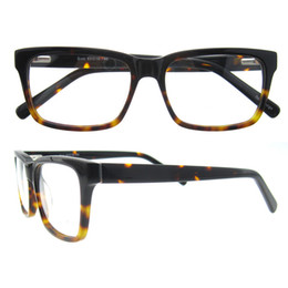 Wholesale Glasses Wipers - STYLISH RECTANGLE FULL RIM DURAL COLORS FIRM UNISEX PRESCRIPTION OPTICAL GLASSES WITH LENS WIPER AND GLASSES BAG B04298
