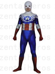 Wholesale Halloween Costume Captain America - Falcon Captain America Costume Halloween Cosplay Superhero Zentai Suit