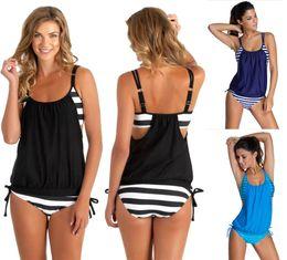 Wholesale Xl Tankinis - US Shipping Women's Tankini Bikini Set Push-up Padded Swimsuit Bathing Suit Swimwear