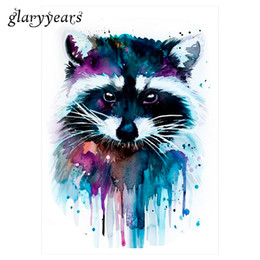 Wholesale Temporary Tattoo Patterns - Wholesale-1 Sheet Beauty Decal Waterproof Tattoo Sticker KM-044 Cute Raccoon Animal Pattern Women Girl Body Art Temporary Tattoo Removable