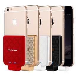 Wholesale Battery Power Back - Powerbank External Backup Battery Charger Power Back Cover For iphone 7 \7 plus \6\6S 6plus \ 6S plus