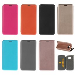 Wholesale Wholesale Magnetic Note Holder - For Galaxy S7 edge S6 Slim Wallet Leather Magnetic Shell Case Cover Credit Card Holder TPU For Samsung S6 note 5