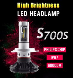 Wholesale H4 Xenon Lamps - 6000LM 7S H4 Led Headlight Car High Low Beam All in one Fog Light Kit LED Lamp Xenon DIY led headlight 3000k 6500k