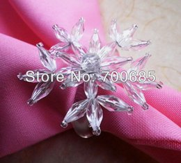 Wholesale Cheap Napkin Holders - Wholesale- napkin rings clear acrylic snowflake, napkin holder cheap