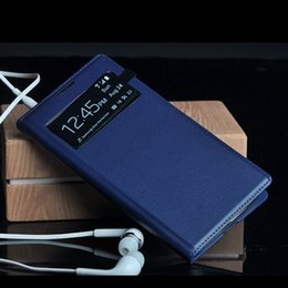 Wholesale Smart Wake S4 Case - Smart View Flip Cover Dormancy Sleep Wake Up Fundas Cell Phone Case Coque For Samsung Galaxy S4 I9500   S4 Mini I9190 Retail Box