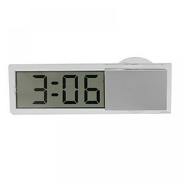 Wholesale Cool Car Electronics - Wholesale- Hot Car Ornaments Durable Digital LCD Display Car Electronic Clock With Sucker Cool Free Shipping