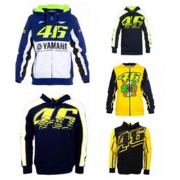 Wholesale moto gp jacket - Fashion Valentino Rossi VR46 M1 Factory Racing Team Moto GP Adult Hoodie Sports Sweatshirt Jackets Free shipping