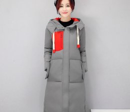Wholesale Korean Button Down - Winter new women's Korean version of the long knees loose large yards thick down coat cotton down coat