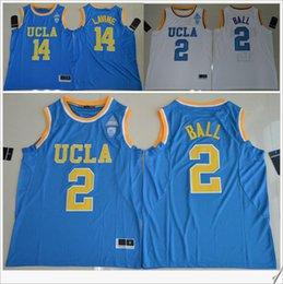 Wholesale Ball Jerseys - UCLA Bruins #2 Lonzo Ball 14 Zach LaVine PAC-12 Mens American College Stitched Embroidery Basketball Uniforms Shirts Sports Team Pro Jerseys