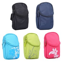 Wholesale Iphone Waist Holder - Universal Mobile Phone Armband Holder Outdoor Sports Waist Bag Comfortable Fabric Pouch Case 5 Styles For iphone 7 6s 5s Samsung S8 S7 S6 S5