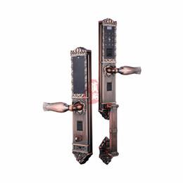 Wholesale Door Security Fingerprint - New Arrival High Quality LD-zn1602 European antique intelligent fingerprint lock Home Security Door Lock